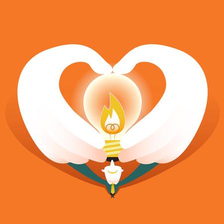 flat design vector illustration concept of love this idea Vector