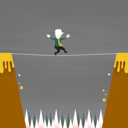 dream job: flat design vector illustration concept of balancing Illustration