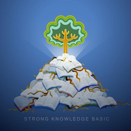 強い知識基礎のベクトル図コンセプト  イラスト・ベクター素材