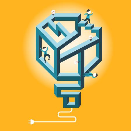 indecisive: flat design vector illustration concept of confused