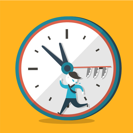 career up: flat design vector illustration concept of hurry up Illustration
