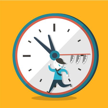 hurry up: illustrazione design piatto vettoriale concetto di fretta Vettoriali