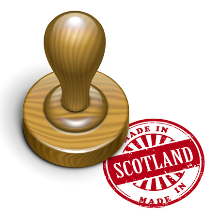 rubberstamp: illustration of grunge rubber stamp with the text made in Scotland written inside