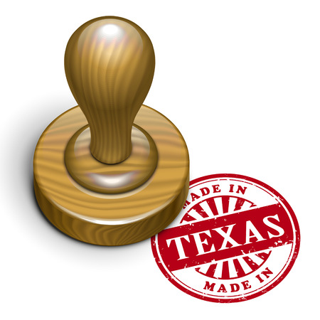 rubber stamp: illustration of grunge rubber stamp with the text made in Texas written inside