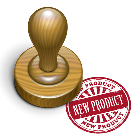 rubberstamp: illustration of grunge rubber stamp with the text new product written inside