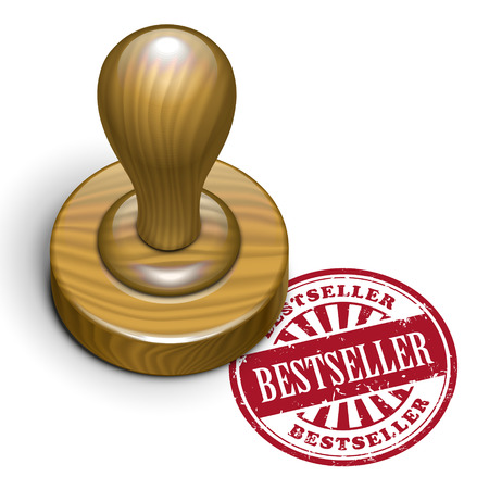 rubberstamp: illustration of grunge rubber stamp with the text bestseller written inside