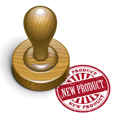 new product: illustration of grunge rubber stamp with the text new product written inside