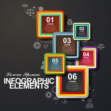 rounded rectangle: modern vector abstract rounded rectangle label infographic elements