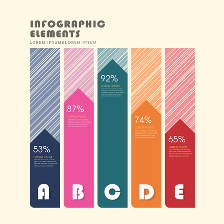 histogram: vector illustration abstract creative histogram infographics design