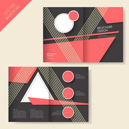vector geometry brochure design with stripe and black Vector
