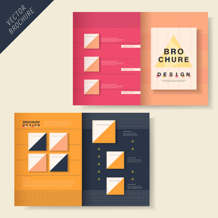publisher: vector geometry brochure design with dot element