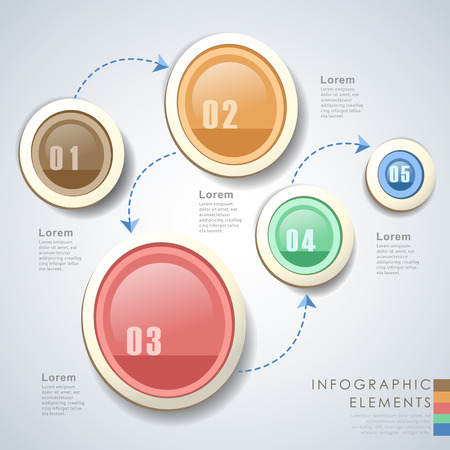 vector abstract circle flow chart infographic elements