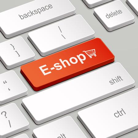 eshop: message on keyboard enter key, for e-shop concepts
