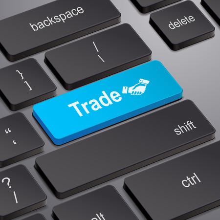 enter key: message on keyboard enter key, for trade concepts Illustration