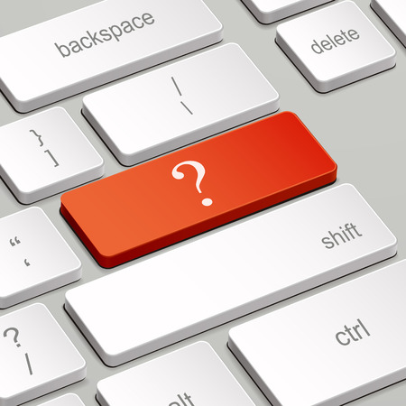 enter key: message on keyboard enter key, for question mark concepts