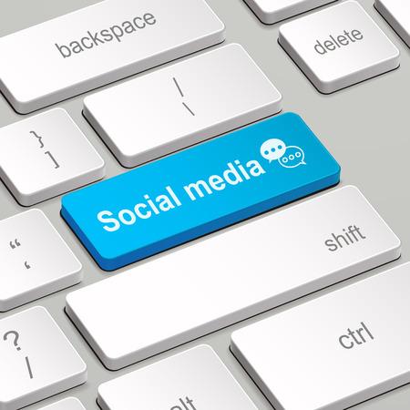 enter key: message on keyboard enter key, for social media concepts