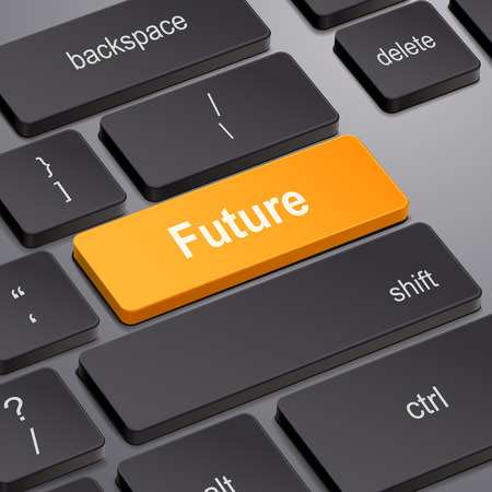 prediction: message on keyboard enter key, for future time concepts