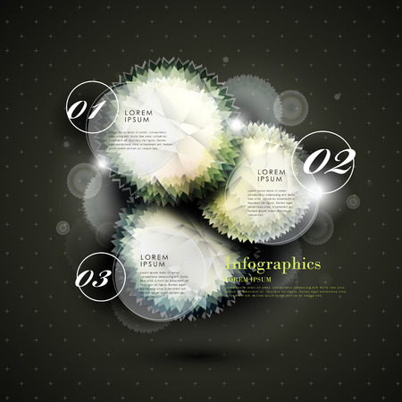 modern vector abstract twinkle gem infographic elements Vector