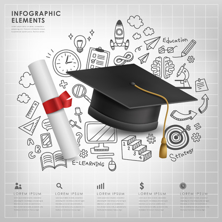 creative design: graduation concept vector illustration infographic elements design