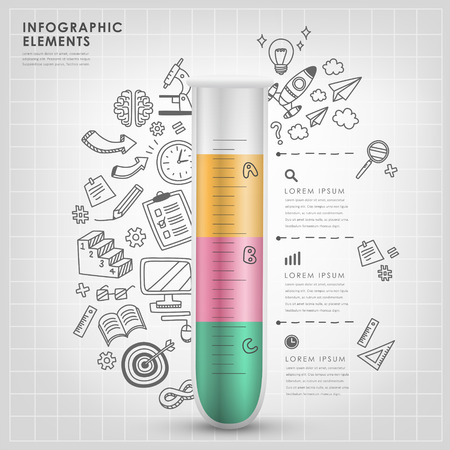 test tube vector illustration infographic elements design Vector