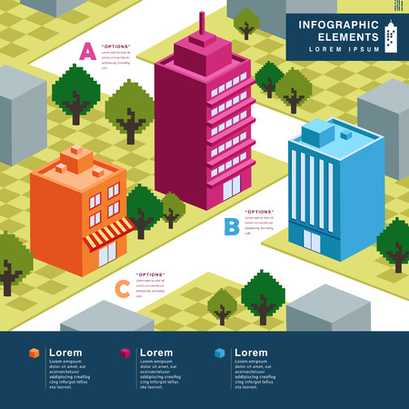 tall buildings: modern house vector abstract infographic elements design