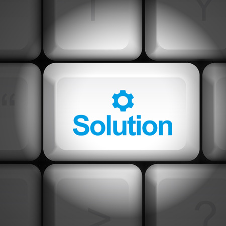 key board: message on keyboard enter key, for solution concepts