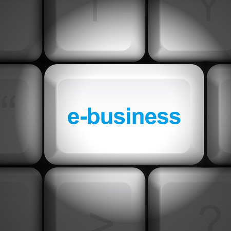 enter key: message on keyboard enter key, for e-business concepts