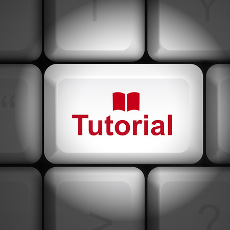 enter key: message on keyboard enter key, for tutorial concepts