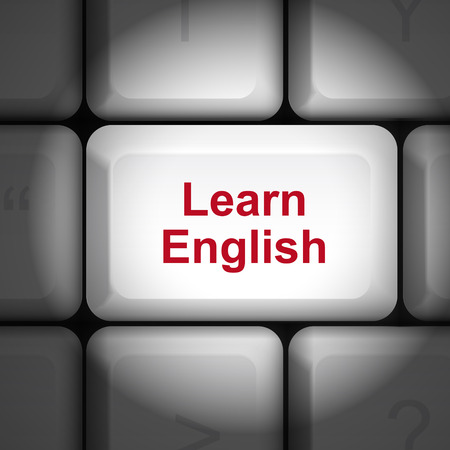 enter key: message on keyboard enter key, for learning English concepts
