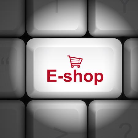 tecla enter: mensaje en el teclado tecla enter, para los conceptos de e-shop Vectores