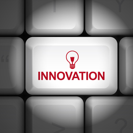 enter key: message on keyboard enter key, for innovation concepts