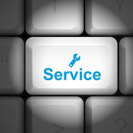 enter key: message on keyboard enter key, for service concepts Illustration