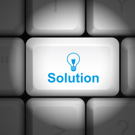 message on keyboard enter key, for solution concepts