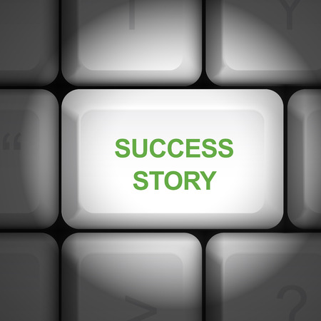 enter key: message on keyboard enter key, for success story  concepts