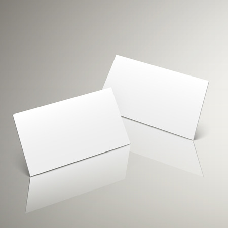workpiece: white style of 3d blank name card design for corporate promotion