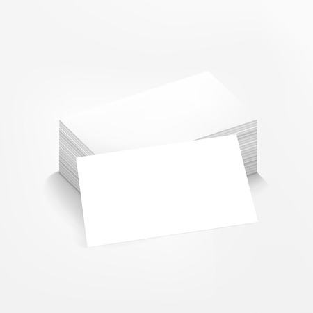 blank business card: vector blank business card on white background Illustration