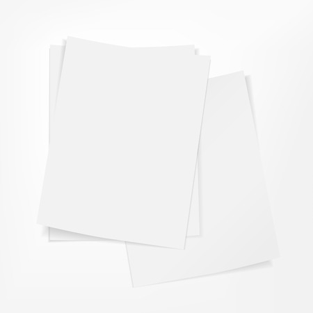 stack of documents: vector blank stack of paper on white background Illustration