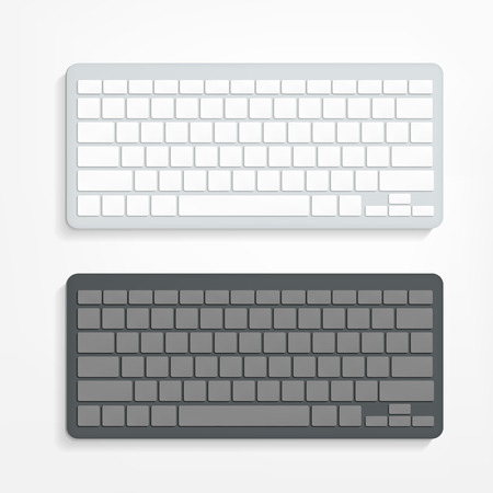 keyboard keys: vector blank computer keyboard on white background Illustration