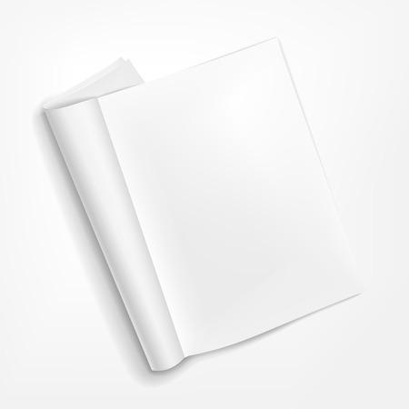 vector 3d blank opened booklet on white background Vector