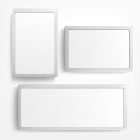 vector blank billboard and lightbox on white background  Vector