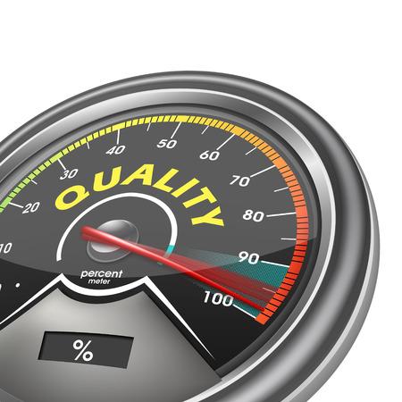 quality meter hundred per cent isolated on white background Ilustração