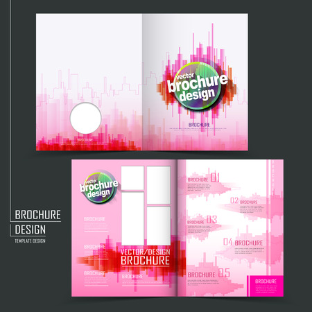 Modern Tri Fold Template Of Brochure Design With Futuristic Style