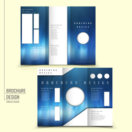 typesetting: modern tri-fold template of brochure design with futuristic style Illustration