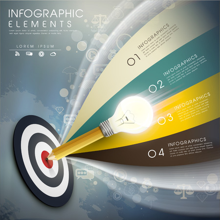 set goal: creative template with the accurate idea, can be used for infographics and banners or posters, concept vector illustration