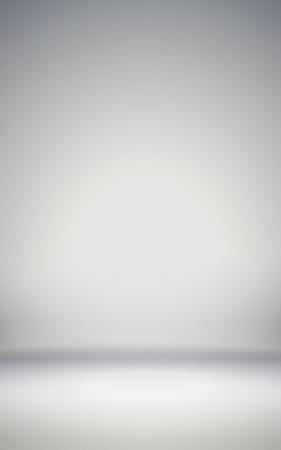 abstract illustration: astratto illustrazione sfondo trama di luce muro grigio, pavimento piano nella stanza vuota.
