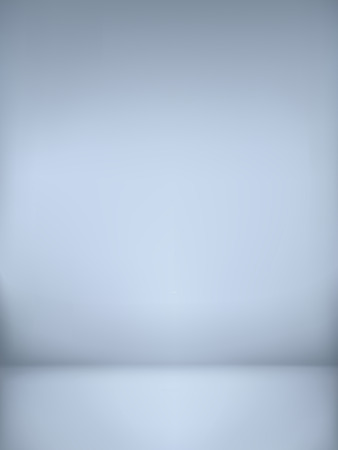 abstract illustration background texture of light gray and blue gradient wall, flat floor in empty room.