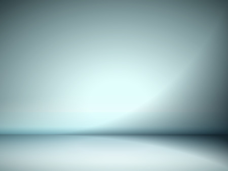 abstract illustration background texture of cyan wall, flat floor in empty room. Vector