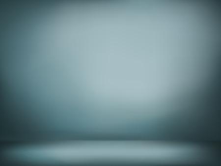 暗い灰色および青のグラデーションの壁のイラスト背景テクスチャの抽象は、空の部屋の床がフラットします。  イラスト・ベクター素材