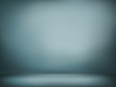 gray background: abstract illustration background texture of dark gray and blue gradient wall, flat floor in empty room.
