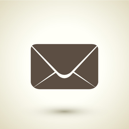 retro style email  icon isolated on brown background Vector